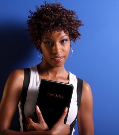 Black woman with Bible